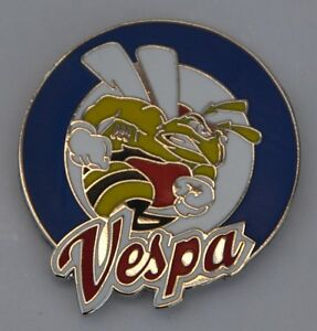 Vespa-Wasp-Target-Mod-Scooter-Quality-Enamel-Pin-Badge