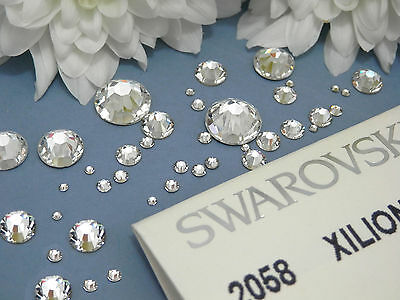 Clear Swarovski Flat-Back Crystals 2088 and 2058 *No Hot Fix* ALL SIZES
