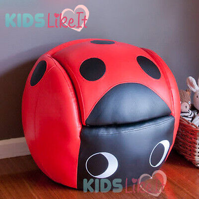 *Brand New* KIDS TODDLERS Red LADYBUG SOFA w/ FOOTSTOOL