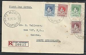 Papua 1937 R-FDCcover Port Moresby to Cairns
