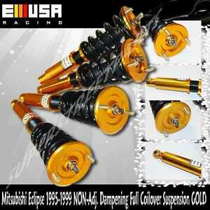 95-99 Mitsubishi Eclipse 94-98 Galant Full Coilover Suspension Lowering Kit Gold | eBay