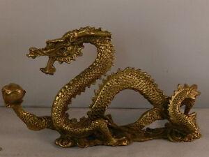 d050 china reichtum feng shui messing drachen gl ck c 300g ebay. Black Bedroom Furniture Sets. Home Design Ideas