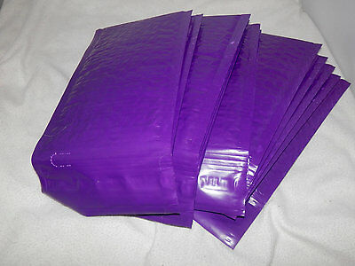 50 New Purple 4x8 Bubble Mailers, High Quality Padded Shipping Mailing Envelopes