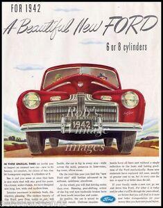 Image is loading Ford-Car-V-8-1942-Advertising-Antique-Vintage-  sc 1 st  eBay & Ford Car V-8 1942 Advertising Antique Vintage Dealer Magazine Ad ... markmcfarlin.com