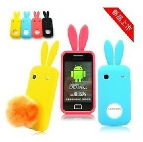 Sweet-Rabbit-Bunny-Silicone-Skin-Case-Cover-For-Samsung-Galaxy-Gio-S5660