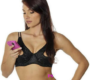 Black Open Tip Lace Bra Show Nipples Cleavage D/DD Cups ...