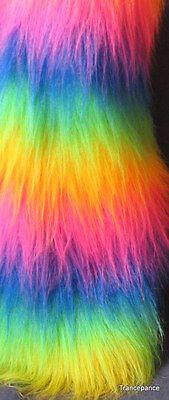 Multi colour Luxury Long Pile/Hair Faux Fur Fabric - Various sizes & Colours