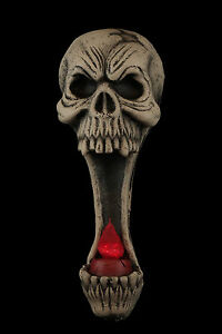 Lighted-Gothic-Decor-SKULL-SCONCE-LIGHT-UP-CANDLE-LAMP-Halloween-Prop-Decoration