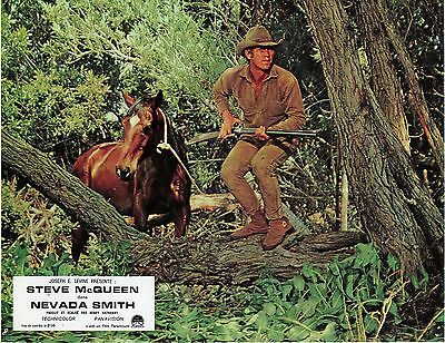 STEVE McQUEEN NEVADA SMITH 1976 VINTAGE PHOTO ANCIENNE LOBBY CARD N°3