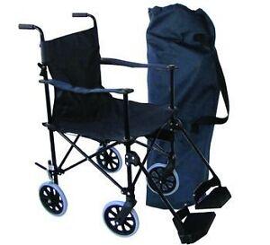 Folding Lightweight Travel Transport Chair Wheelchair With