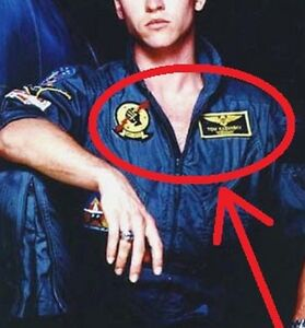 FANCY-DRESS-COSTUME-SEEN-MOVIE-TOP-GUN-ICEMAN-FLIGHT-SUIT-NAME-burdock-2-PATCH