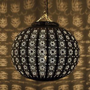 orientalische 30cm silber lampe marokkanische h ngeleuchte metall kora kazdir ebay. Black Bedroom Furniture Sets. Home Design Ideas