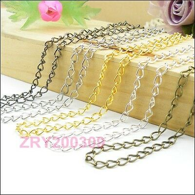 5Strands 3mm Ring Findings Chains  50cm Silver/Gold/Bronze/Black etc.R0157