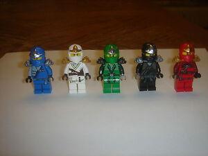 5-LEGO-NINJAGO-green-ninja-Lloyd-KAI-JAY-zane-cole-ZX-minifigures-LOT-new