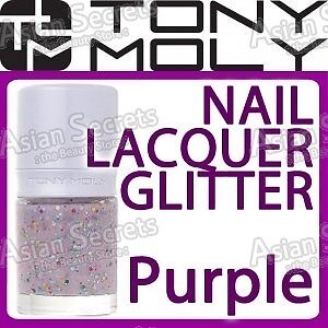 TONYMOLY-Nail-Lacquer-Glitter-10mL-GS09-Shooting-Star-Purple-Made-in-Korea