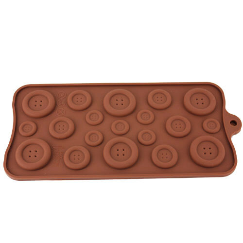 Silicone Button-shape Cake decorating fondant cookie chocolate mold Sheet DT530