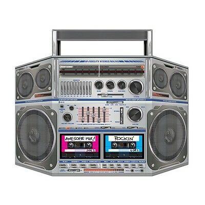 We Like The BOOM BOX STAND-UP PROP Party Decoration 80's Party HIP HOP