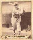 1940 Play Ball Rabbit Warstler #59 Baseball Card