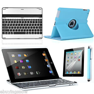 The-New-iPad-2-3rd-Bluetooth-Keyboard-L-Blue-360-Leather-Smart-Stand-Case-Cover