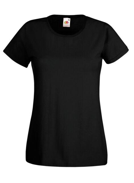 Fruit of the Loom Damen T-Shirt T Shirts S M L XL XXL