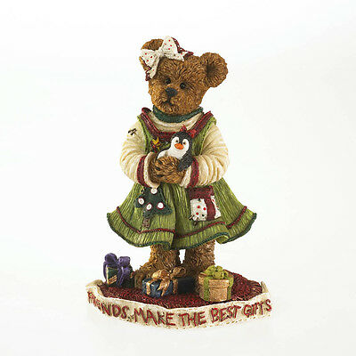 Boyds Bears Carol Lee Goodfriend w/Freezie Christmas Bearstone Fig 1E ~ 4028424