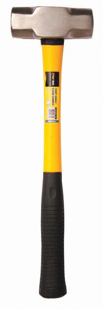 Poignée Poignée Poignée courte / longue 3lb / 6lb sledge hammer fibre de verre Arbre grip caoutchouc lapidation f2853e