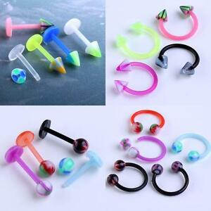 10-50-100pcs-16G-UV-Spike-Ball-Stud-Lip-Labret-Nose-Ring-Stud-Barbell-Horseshoes