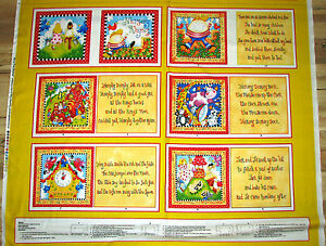 Story-Time-Nursery-Rhymes-Fabric-Baby-Kids-Book-Panel