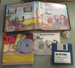 The-Flintstones-con-spilletta-RARO-Amiga-Commodore-Game-vintage-retro-games