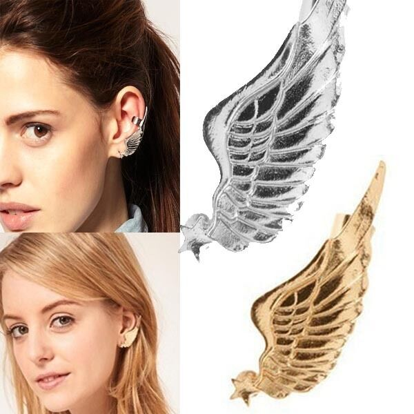 Popular Gothic Punk Rock Star Angel Wing Ear Cuff Warp Clip Stud Earring an403
