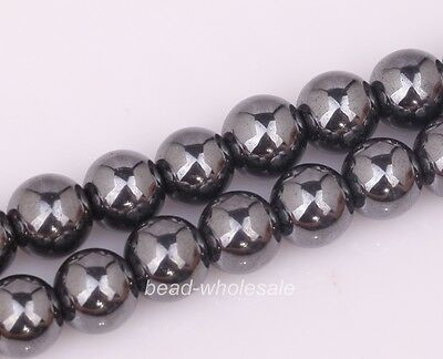 10/30/50/75/100PCS Ball Black Magnetic Hematite Spacer Beads Findings 4/6/8/12mm