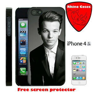 For-iPhone-4-One-Direction-Louis-Tomlinson-Case-Cover-Screen-Protector-Black