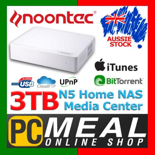 Noontec 3TB N5 Home NAS Media Center GigaLink Network Cloud Storage Server USB