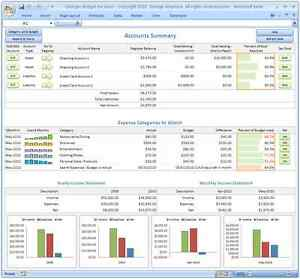 Personal budgeting software excel budget spreadsheet for Rag analysis template