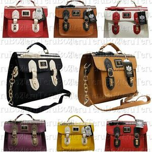 Authentic-LYDC-Ladies-Bow-Vintage-Satchel-I-Pad-Bag-School-Bag-Messenger