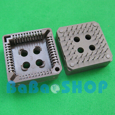 4pcs PLCC44 44 Pin 44Pin DIP IC Socket Adapter PLCC Converter Brand New
