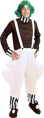 Chocolate Factory Worker Adult Halloween DELUXE Costume With Wig Included