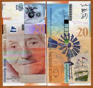 Kamberra-Kingdom-20-Numismas-2012-UNC-gt-Eduardo-Royo-gt-New-Issue