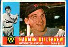 1960 Topps Harmon Killebrew Washington Senators #210 Baseball Card