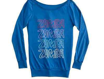 NWT New Zumba Fitness Headliner Top M L XL Medium Large Dazzling Blue Rare