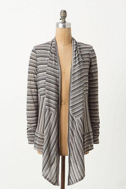 NWT Anthropologie Grey Channels Striped Cardigan Sweater Amazing 5 Stars Size XS