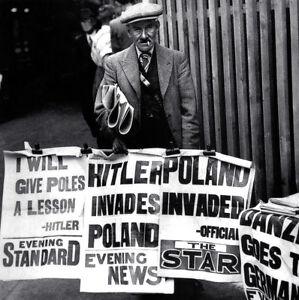 B&W Photo World War Two Begins! Historic!! WWII WW2 Germany ...