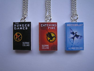 THE HUNGER GAMES SERIES MINIATURE BOOK PENDANT NECKLACE
