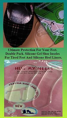 Zapatos Plantillas de Gel de Silicona y Protectores de Talón. pies cansados Fiesta J