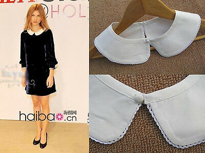New Beautiful Lady Lace peter pan detachable collar necklace White