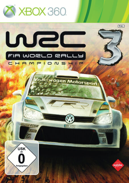 WRC 3: FIA World Rally Championship (Microsoft Xbox 360, 2012, DVD-Box)