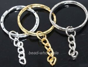10pcs-silver-golden-plated-key-ring-chain-findings-30mm-u-pick-colour
