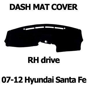 Black Dash Mat for 2007 ~ 2012 Hyundai Santa Fe RH Drive