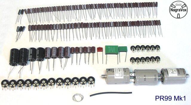 Revox PR99 Mk1 tape recorder capacitor and preset pot upgrade kit