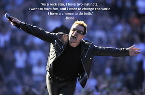 BONO-U2-AWESOME-POSTER-PRINT-WITH-QUOTE-LOOKS-AWESOME-FRAMED